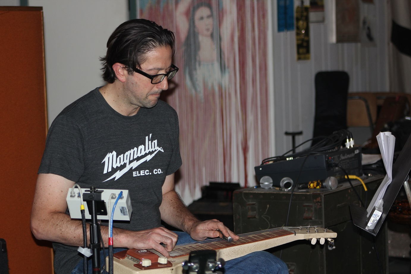 Mike playing 1