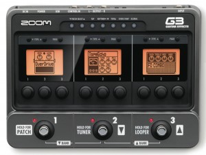 Zoom G3 multi-FX top view