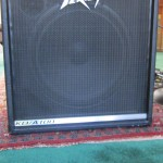 "Peavey KB/A 100 keyboard amp: notice the outline of the 15"" woofer"