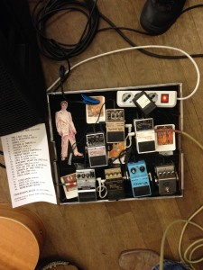 The bass player's rig: it's more complex than mine