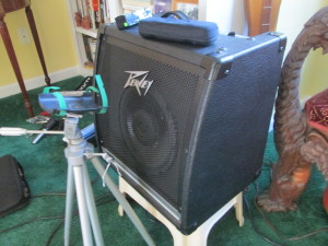 Peavey KB2 with stand for Zoom H4.  Love that amp!
